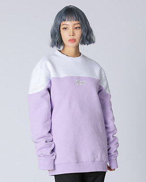 BLOCK CREWNECK _ PURPLE